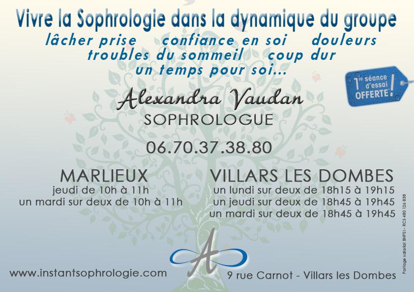 Alexandra Vaudan, Sophrologue à Villars les Dombes